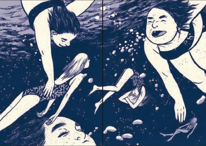 summer underwater
